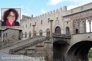 Il palazzo papale - Nel riquadro Luigia Melaragni
