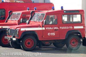 Le jeep dei vigili del fuoco
