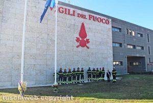 Viterbo - La commemorazione dei vigili del fuoco morti ad Alessandria