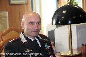 Il comandante provinciale dei carabinieri Andrea Antonazzo