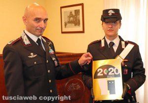 Viterbo - Il comandante provinciale dei carabinieri Andrea Antonazzo presenta il calendario 2020 dell'Arma
