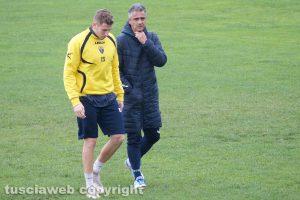 Sport - Calcio - Viterbese - L'allenamento di oggi - Giovanni Lopez e Federico Baschirotto