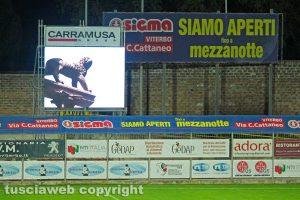 Sport - Calcio - Viterbese - Il maxischermo al Rocchi