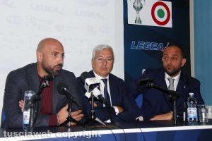 Sport - Calcio - Viterbese - Da sinistra: Calabro, Romano e Foresti