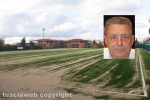 Sport - Calcio - I lavori al campo del Pilastro - Nel riquadro: Giulio Marini