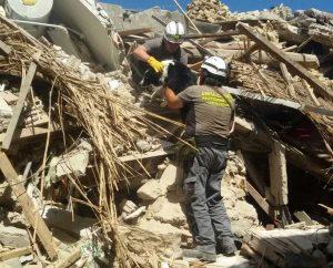 La protezione civile di Piansano in azione nelle zone terremotate