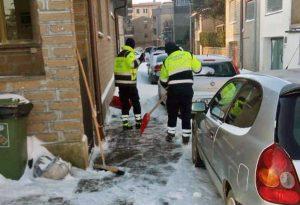 Maltempo - Neve - La protezione civile di Piansano in azione