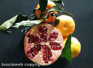 Tesori autunnali - Un melograno e dei mandarini