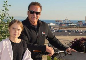 Los Angeles - Arnold Schwarzenegger incontra Greta Thunberg