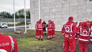 Viterbo - La Croce Rossa rende omaggio ai vigili del fuoco morti ad Alessandria