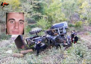 Soriano nel Cimino - Incidente mortale sul lavoro - Nel riquadro Botan Dumitru