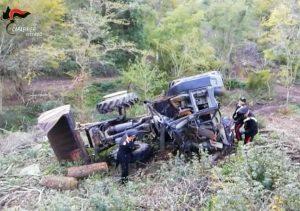 Soriano nel Cimino - Incidente mortale sul lavoro - I carabinieri sul posto