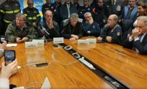 Venezia - La conferenza di Luigi Brugnaro dalla sede della protezione civile regionale