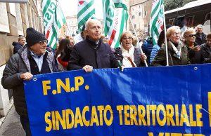 Roma - Manifestazione pensionati - La rappresentanza di Viterbo