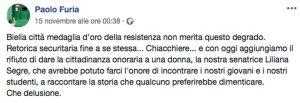 Il post del segretario regionale del Pd Paolo Furia sulla cittadinanza a Ezio Greggio