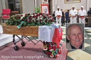 Viterbo - I funerali di Contaldo Cesarini - Nel riquadro: Contaldo Cesarini