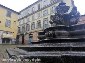 Viterbo - Danneggiata la fontana a piazza delle Erbe
