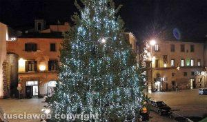 Viterbo - L'albero di Natale a piazza del Plebiscito