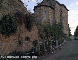 Viterbo - Il muro franato a Fastello
