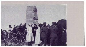 L'inaugurazione della stele del Bulicame nel 1921