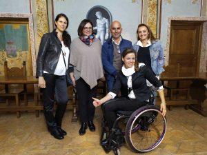 Ana Vitelaru e il team di SuperAbile a Trevignano Romano