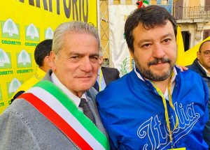 Giovanni Arena e Matteo Salvini alla manifestazione Coldiretti a Roma