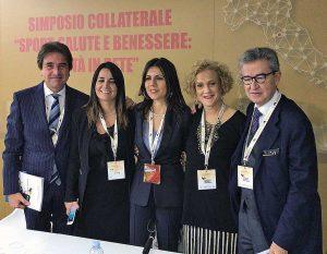 Lina Delle Monache con Roberto Pella, Emanuela Corda, Daniela Sbrollini, Andrea Lenzi