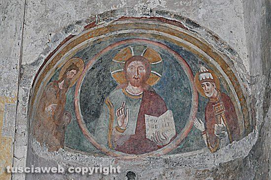 Vetralla - Un affresco della chiesa di Foro Cassio