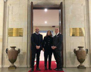 Mauro Rotelli, Isabella Rauti e Federico Mollicone a Berlino