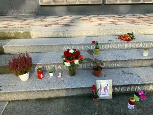 Berlino - Il monumento in ricordo dell'italiana morta nell'attentato ai mercatini di Natale