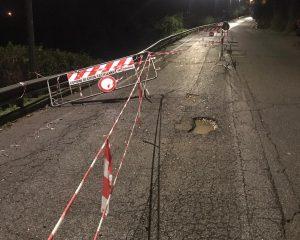 Civita Castellana - Frana alla circonvallazione