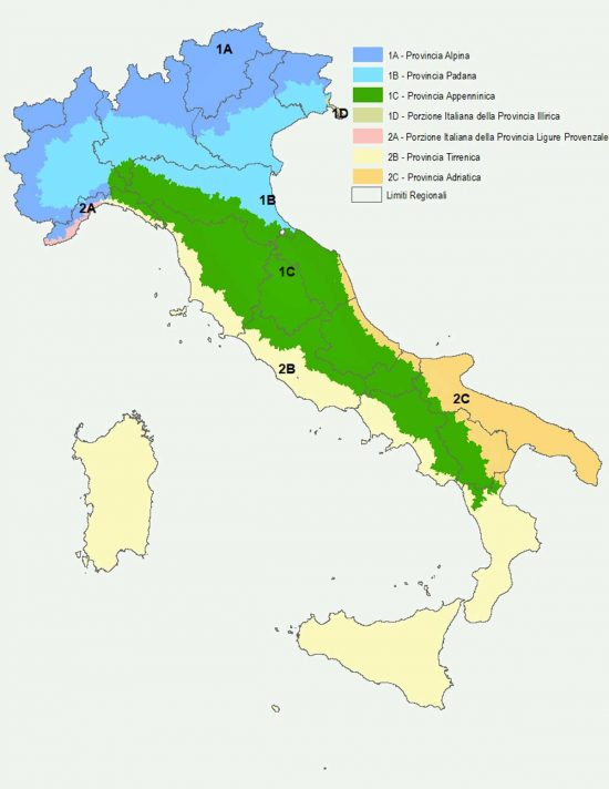 Istat - Le ecoregioni d'Italia