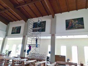 Viterbo - Gli affreschi di sant'Agostino nella chiesa di Villanova