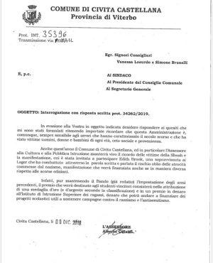 Civita Castellana - Il documento