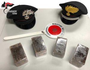 Papigno - Carabinieri - La droga sequestrata