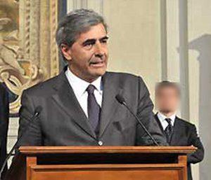 Antonio Fosson, presidente della regione Valle d'Aosta