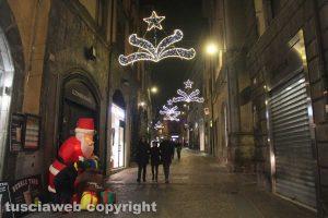 Viterbo - Le luci di Natale nel centro storico