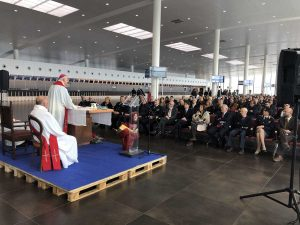 Civitavecchia - La cerimonia al porto per le feste di Natale