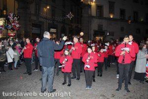 Viterbo - Accensione dell'albero di Natale a piazza del Comune