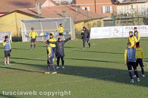 Sport - Calcio - Viterbese - L'allenamento di ieri a Canepina