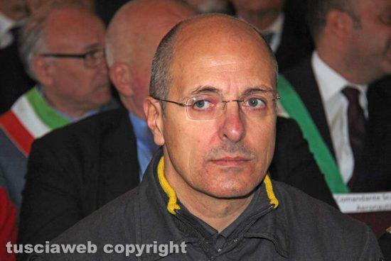 Viterbo - Il comandate provinciale dei vigili del fuoco Davide Pozzi