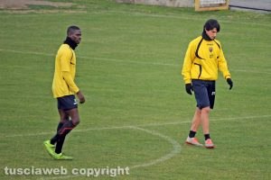 Sport - Calcio - Viterbese - Mamadou Tounkara e Sebastiano Svidercoschi