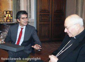 Il vescovo Fumagalli con Marco Sensi