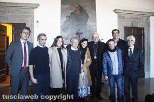 I Sensi con Antonello Ricci, Silvia Cruciani, Roberto Joppolo con il vescovo Fumagalli