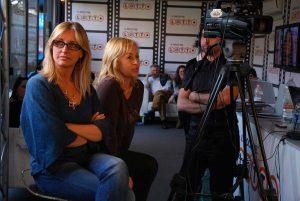 Simona Tartaglia durante alcune riprese