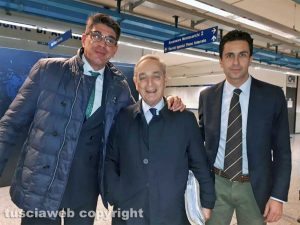 Da sinistra: Giuseppe Di Renzo, Carlo Taormina e Fausto Barili