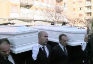 Roma - I funerali di Gaia Von Freymann e Camilla Romagnoli