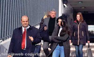 Giallo di Ronciglione - I familiari dell'imputato, con gli avvocati Giancluca Fontana e Giacomo Marini