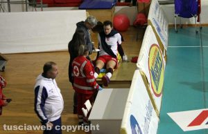 Sport - Scarabeo Civita Castellana - Volley club Orte - L'infortunio di Renzetti