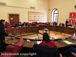 Viterbo - Una seduta del consiglio provinciale
